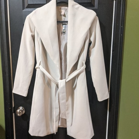 Forever 21 Waterfall Cream Trench Jacket Coat L